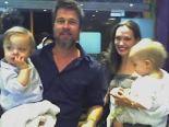 Zwillinge Angelina Jolie und Brad Pitt